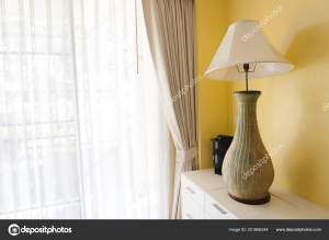 Modern Table Lamp White Table Light Shining Brown White