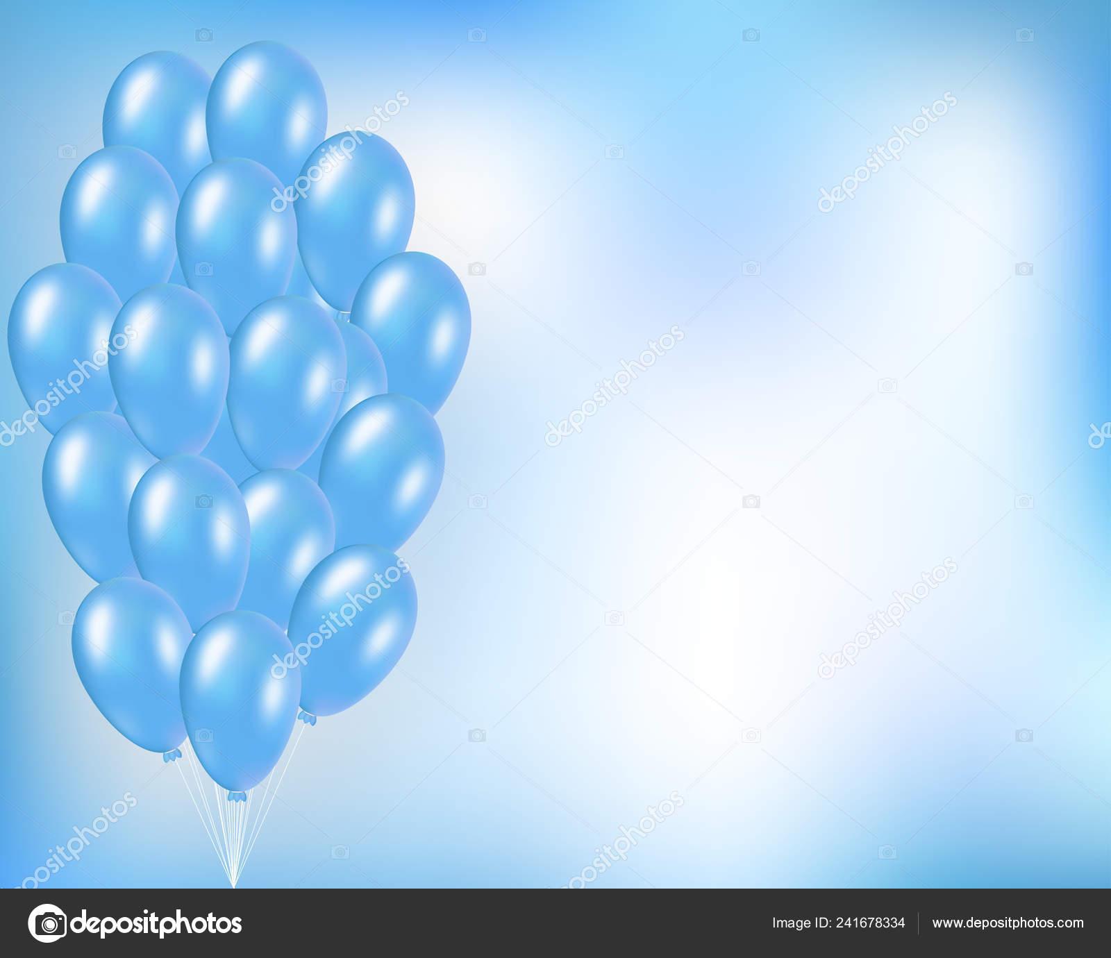 festive vector background blue balloons bunch elegant concept party birthday vector image by c designertimi vector stock 241678334
