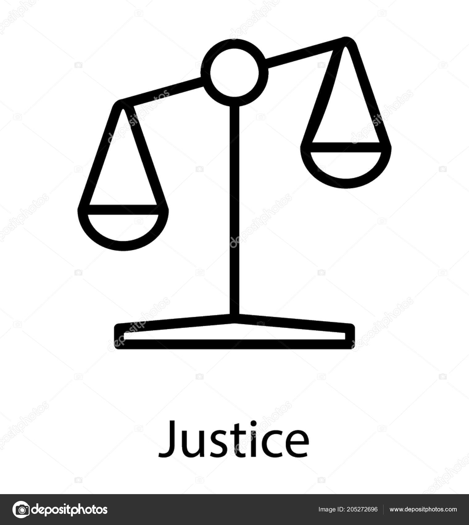 Unbalanced Scale Justice Here Denote Financial Injustice