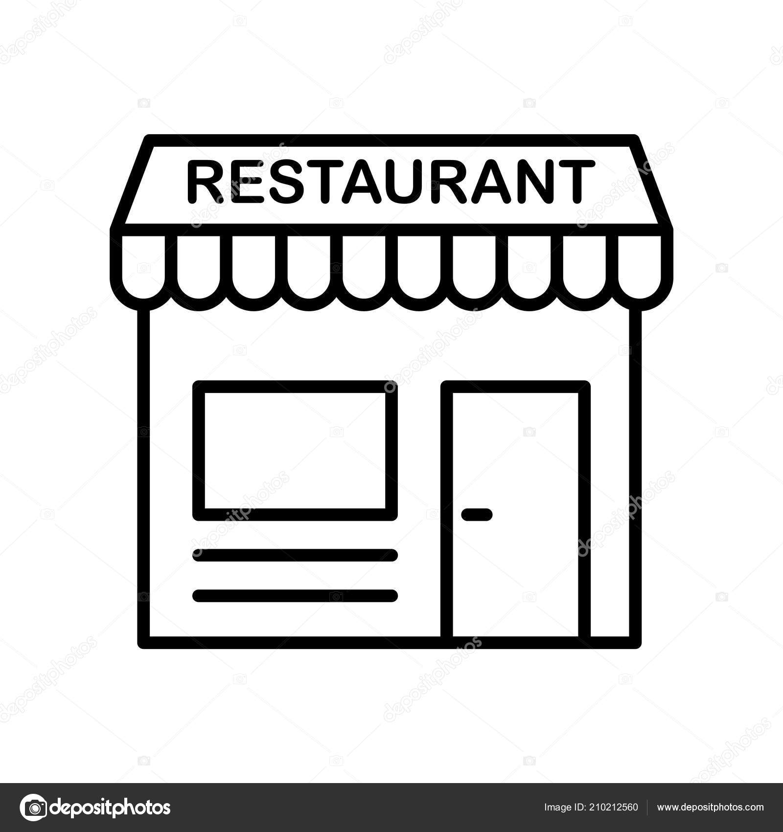 Restaurant Icon Vector Isolated White Background