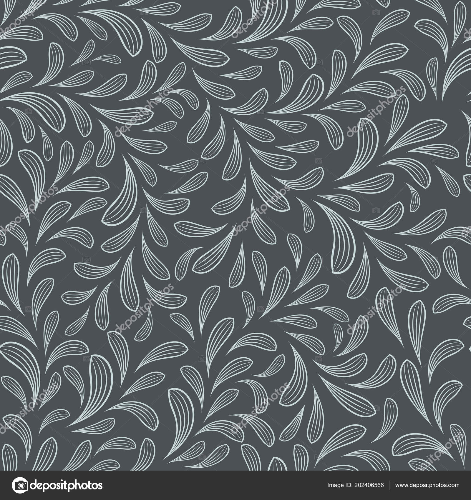 Seamless Abstract Floral Vector Background Wallpaper Pattern Stock Vector C Lenapix 202406566