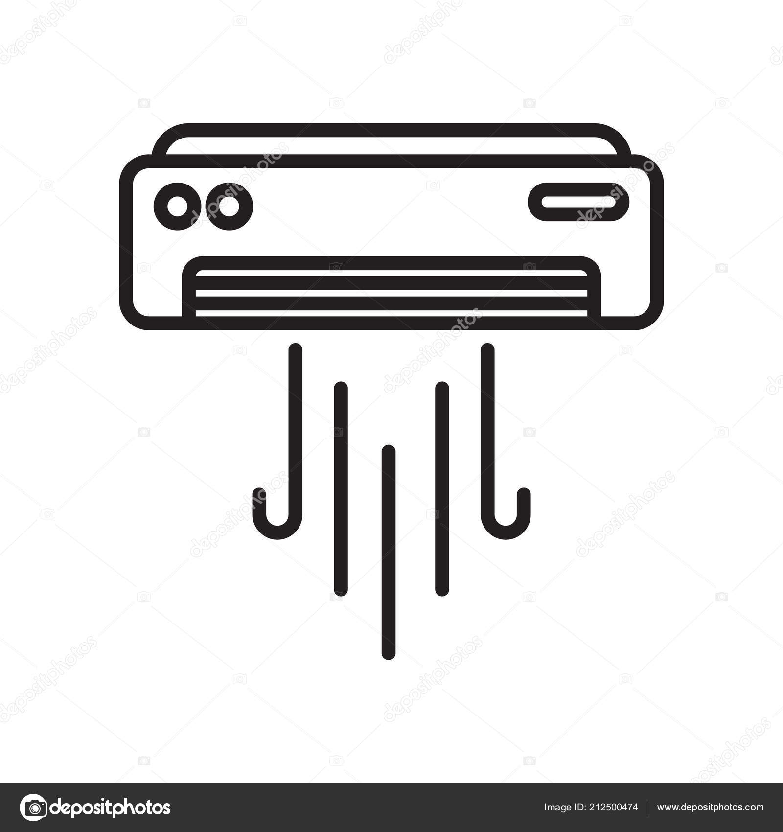 air conditioner icon vector sign and symbol isolated on