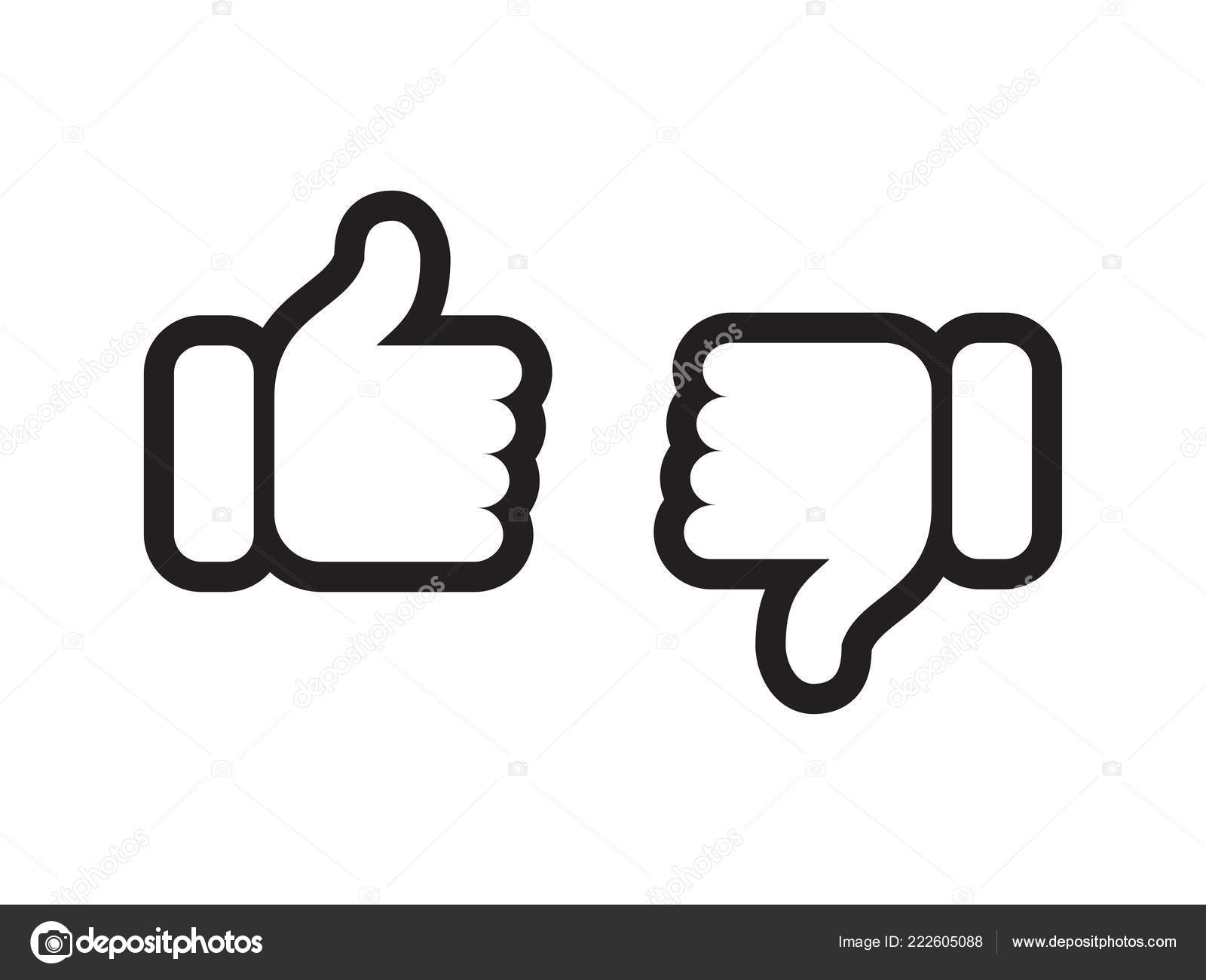 Thumb Up Down Vector Like And Unlike Line Icons