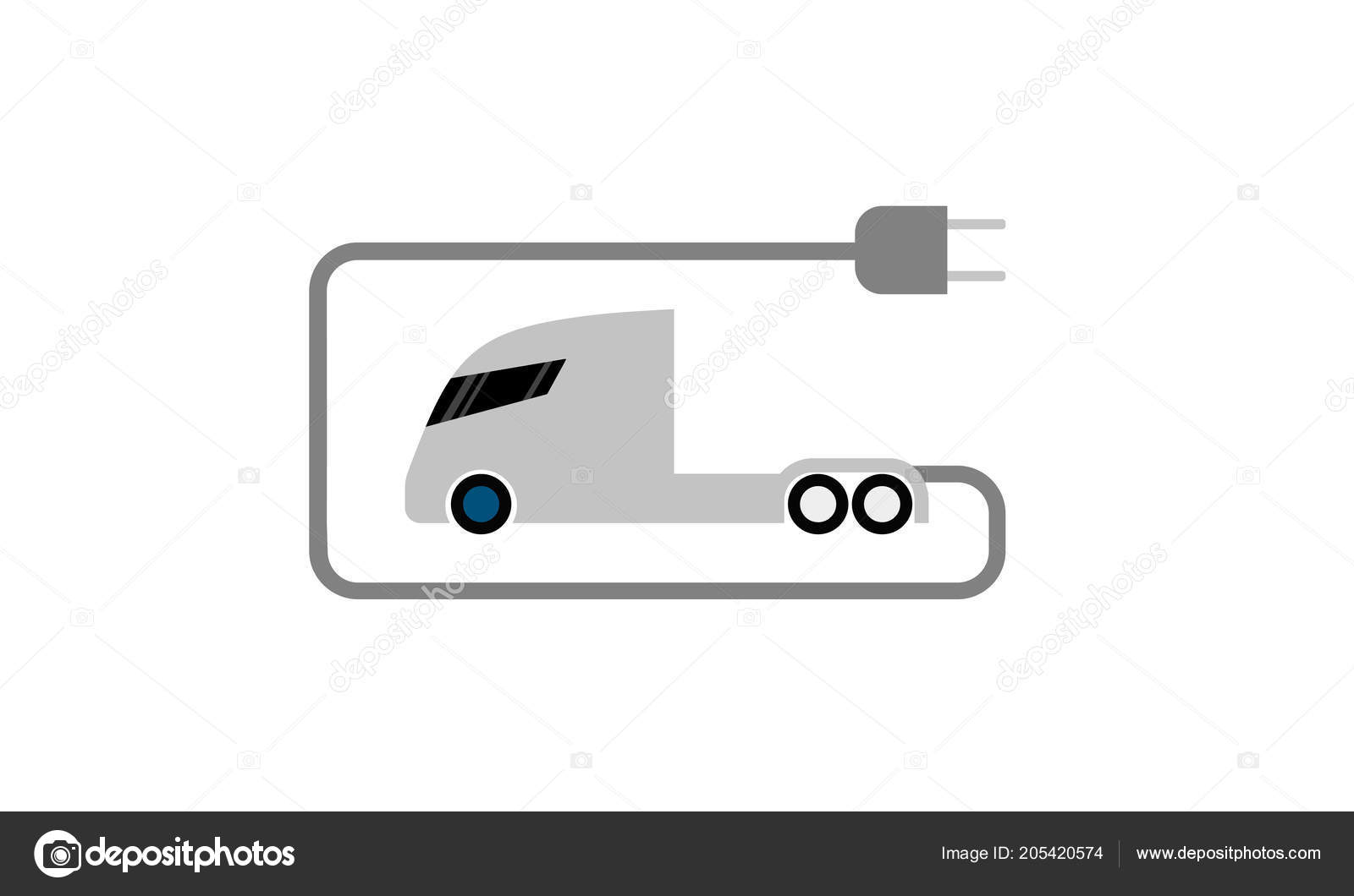 Electric Truck Flat Icon