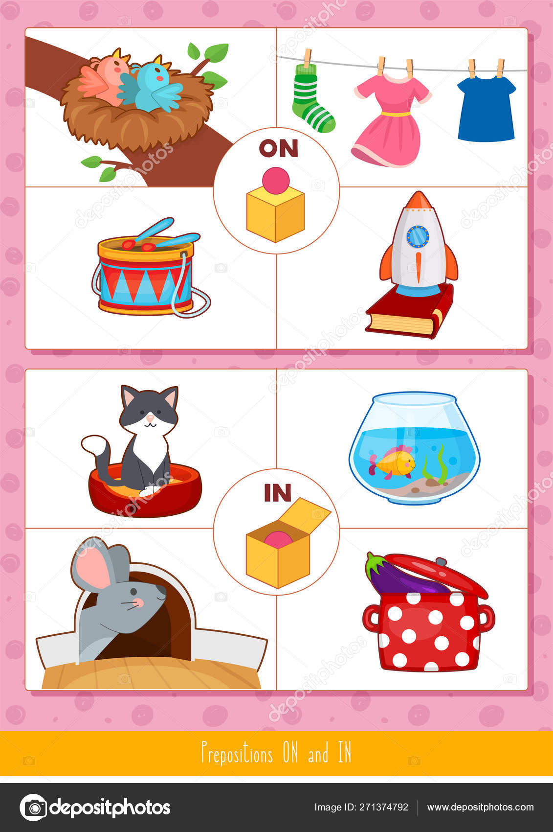 Prepositions On And In