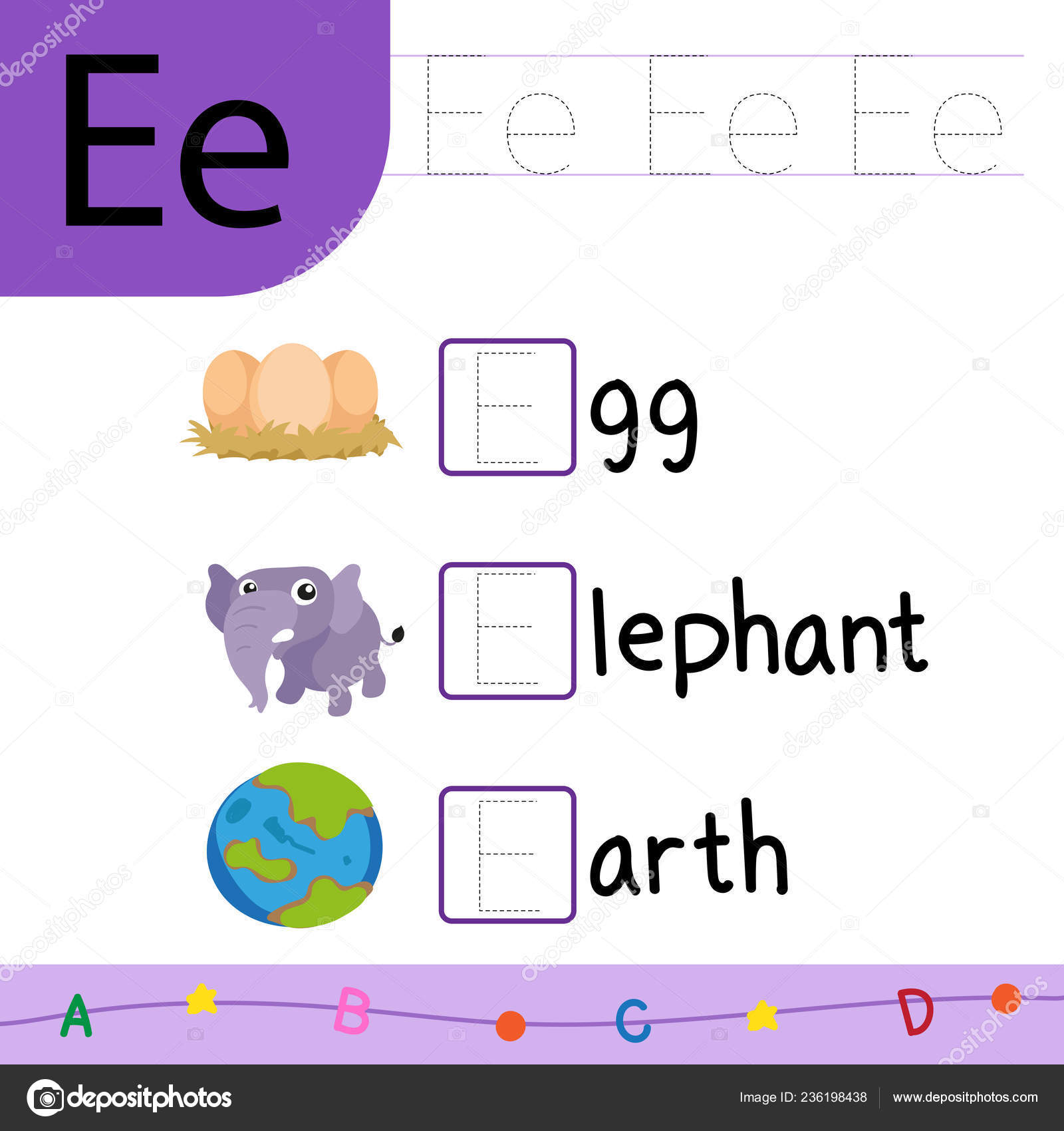 Animal Worksheet Vector Design Fill Word Worksheet Vector