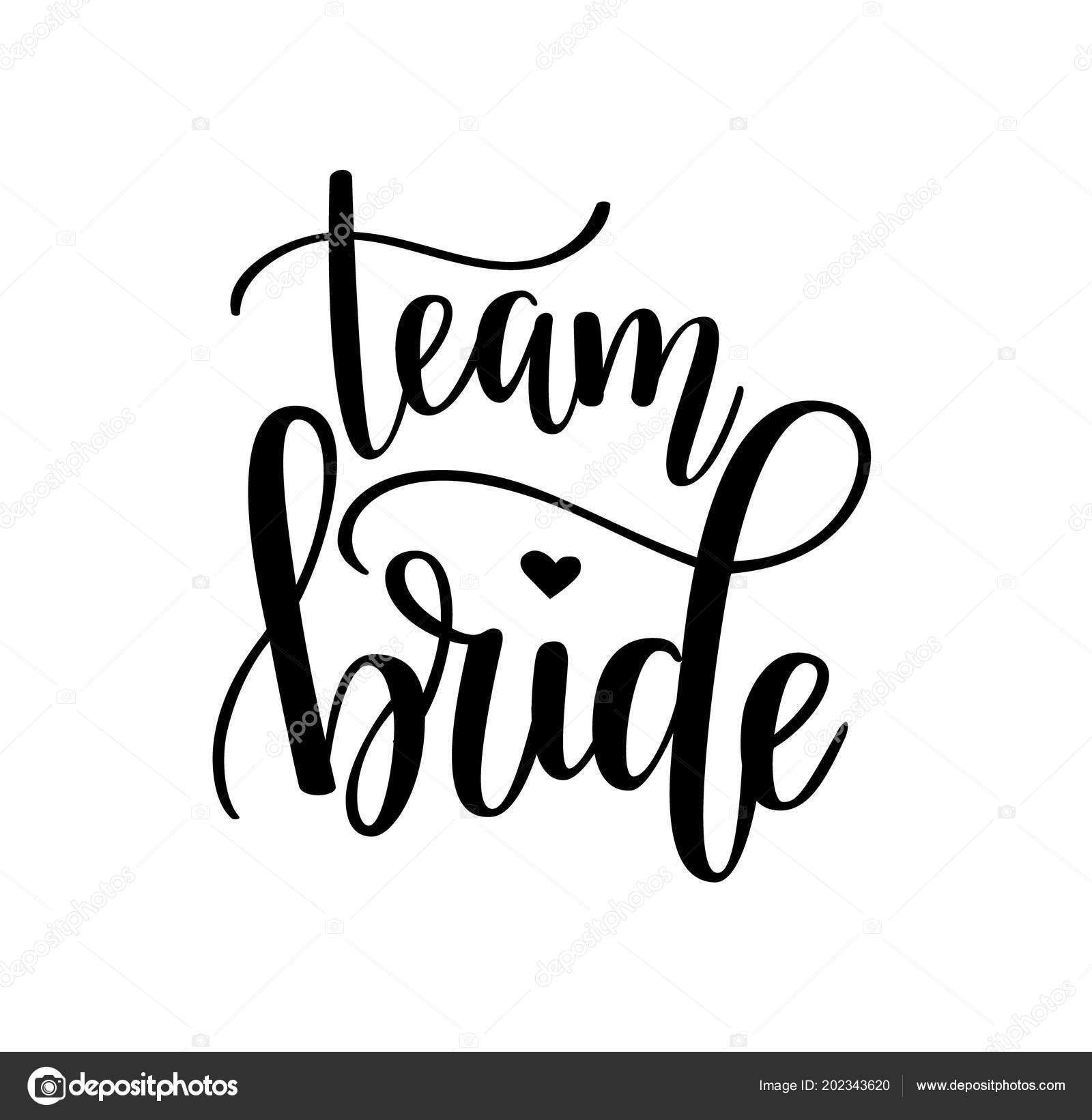 Team Braut Vektor Junggesellinnenabschied Bachelorette Hochzeit Design