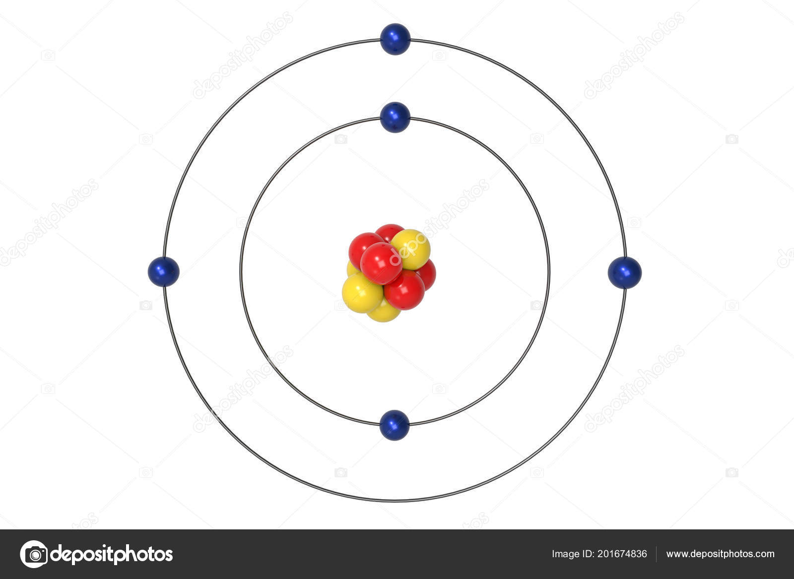 In Neon Atom Bohr Diagram