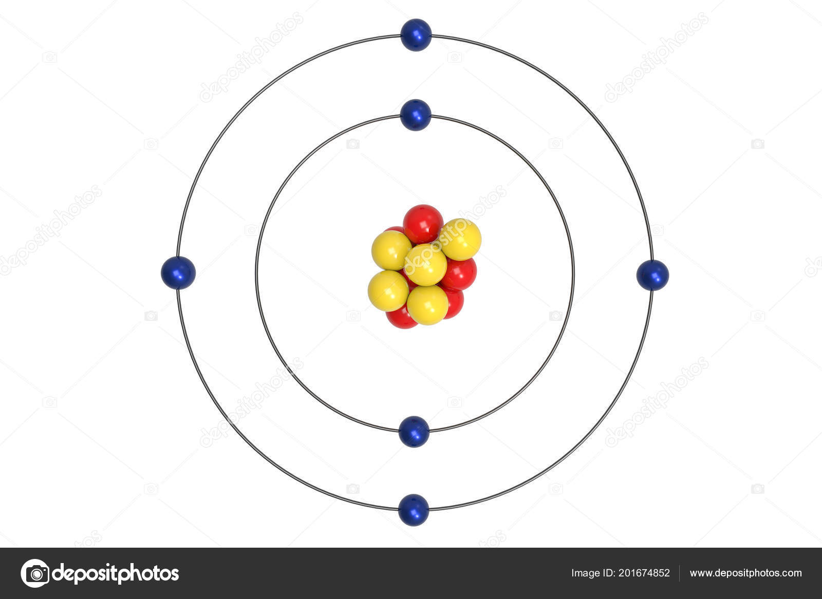 Pmages Carbon Bohr Models