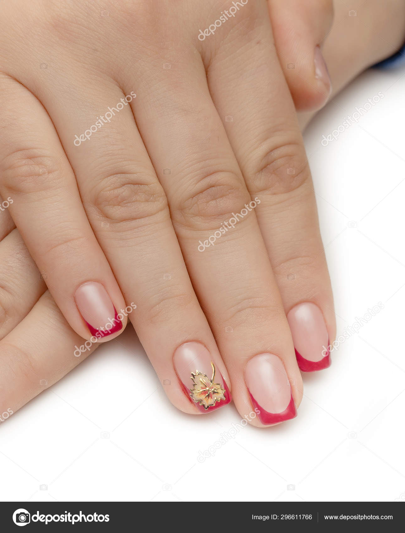 Nails Red Manicure Woman Beautyful Hand Girl Stock Photo