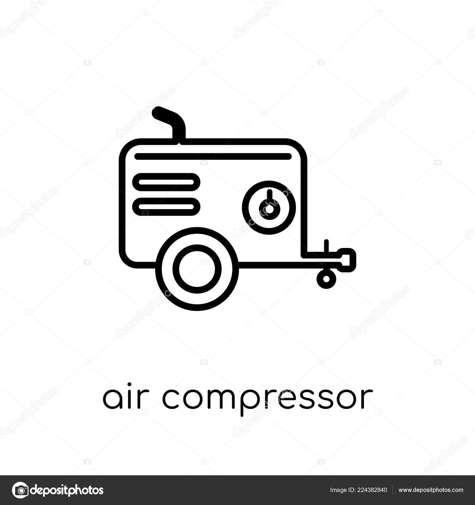 air compressor icon trendy modern flat linear vector air