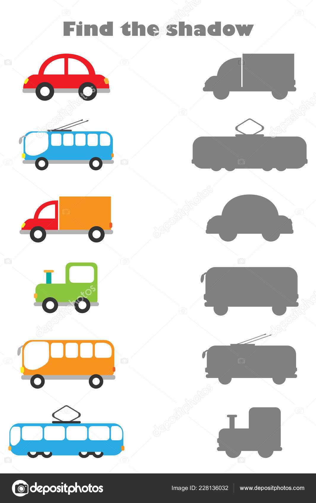 Preschool Kinds Of Transportation Worksheet