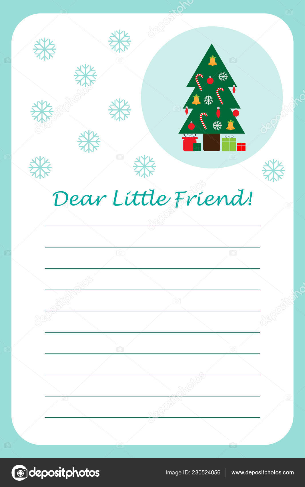 Christmas Letter Santa Claus Children Template Layot Fun