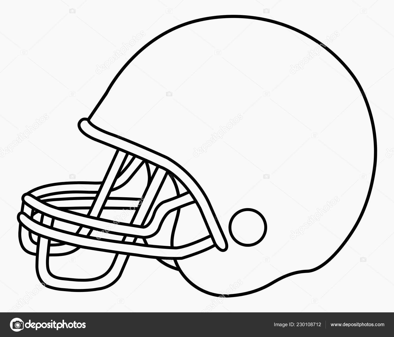 Football Helmets Template Vector Illustration American