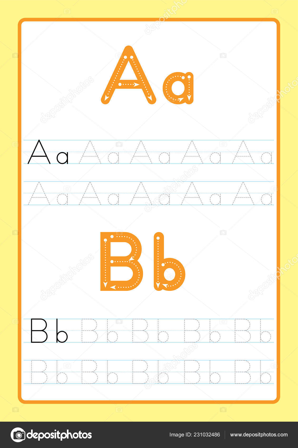Abc Alphabet Letters Tracing Worksheet Alphabet Letters