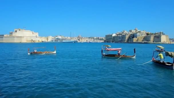 Valletta Malta June 2018 Dghajsa Luzzu Traditional Maltese Boats