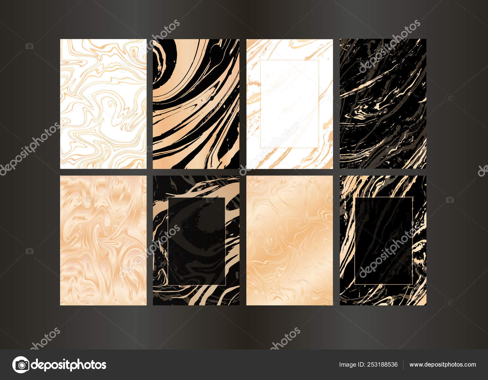 set of vector elegant black and gold brochure wedding invitation card background cover design template with marble texture and gold geometric frame abstract golden background vector image by c ita tinta