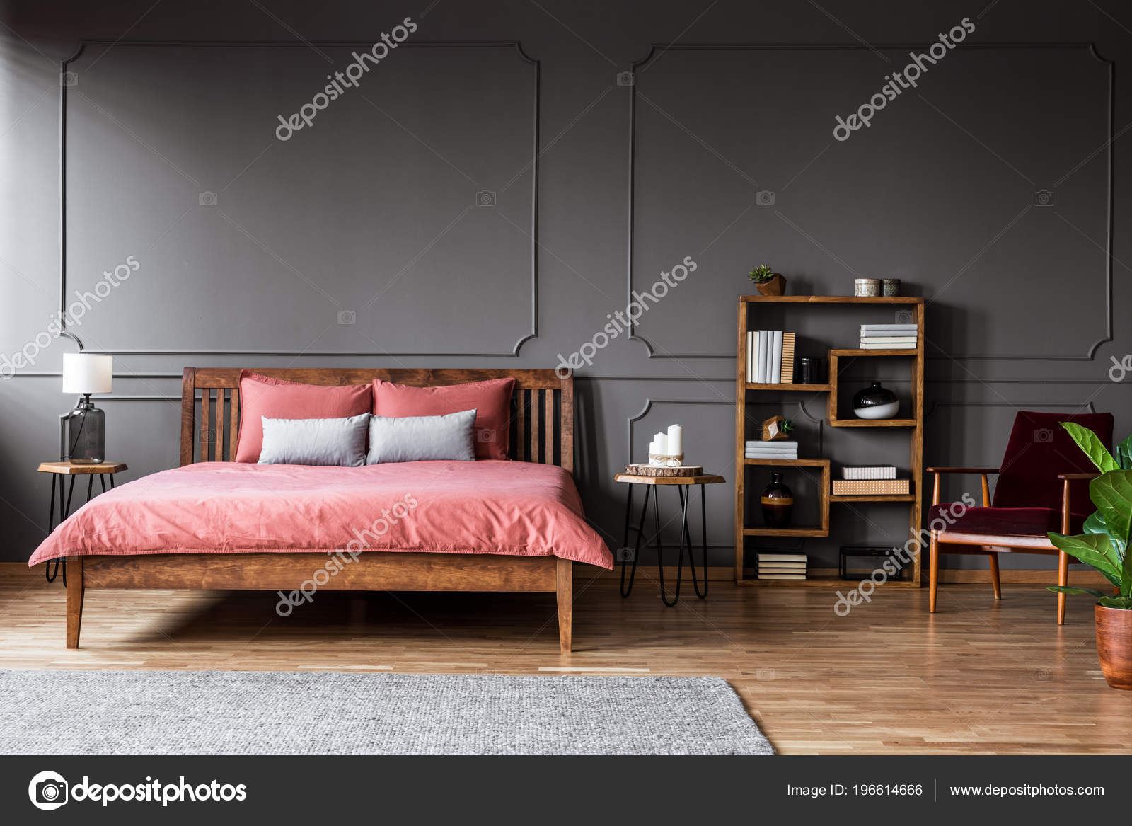 https depositphotos com 196614666 stock photo real photo spacious bedroom interior html