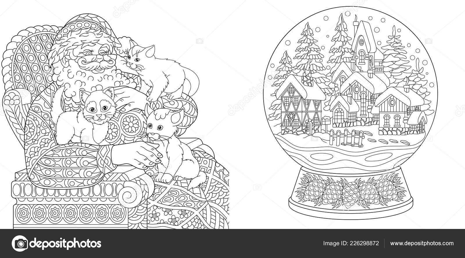 Malvorlagen Malbuch Fur Erwachsene Ausmalbilder Mit Santa