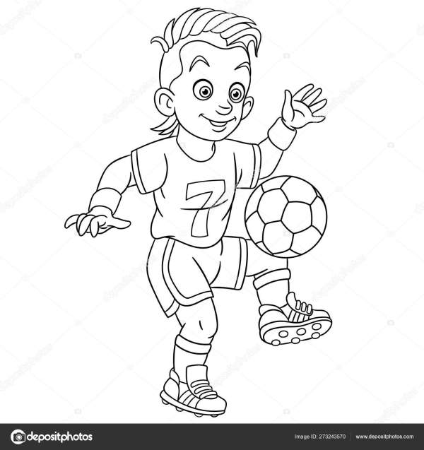 football player coloring page # 55