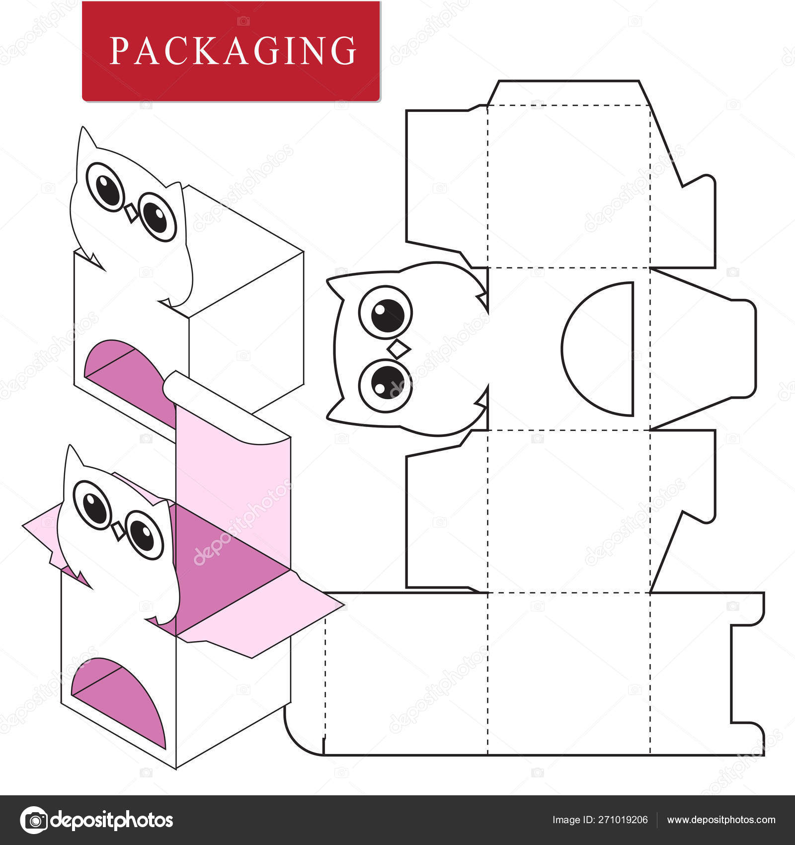 Packaging Design Vector Illustration Of Box Package Template
