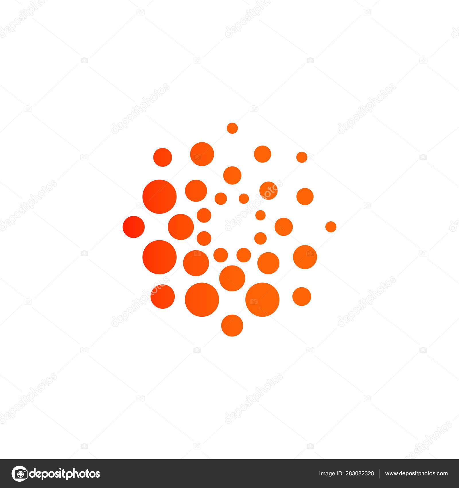 Dots Modern Logo Concept Design Abstract Round Vector Emblem Template Stock Vector C Artyway 283082328
