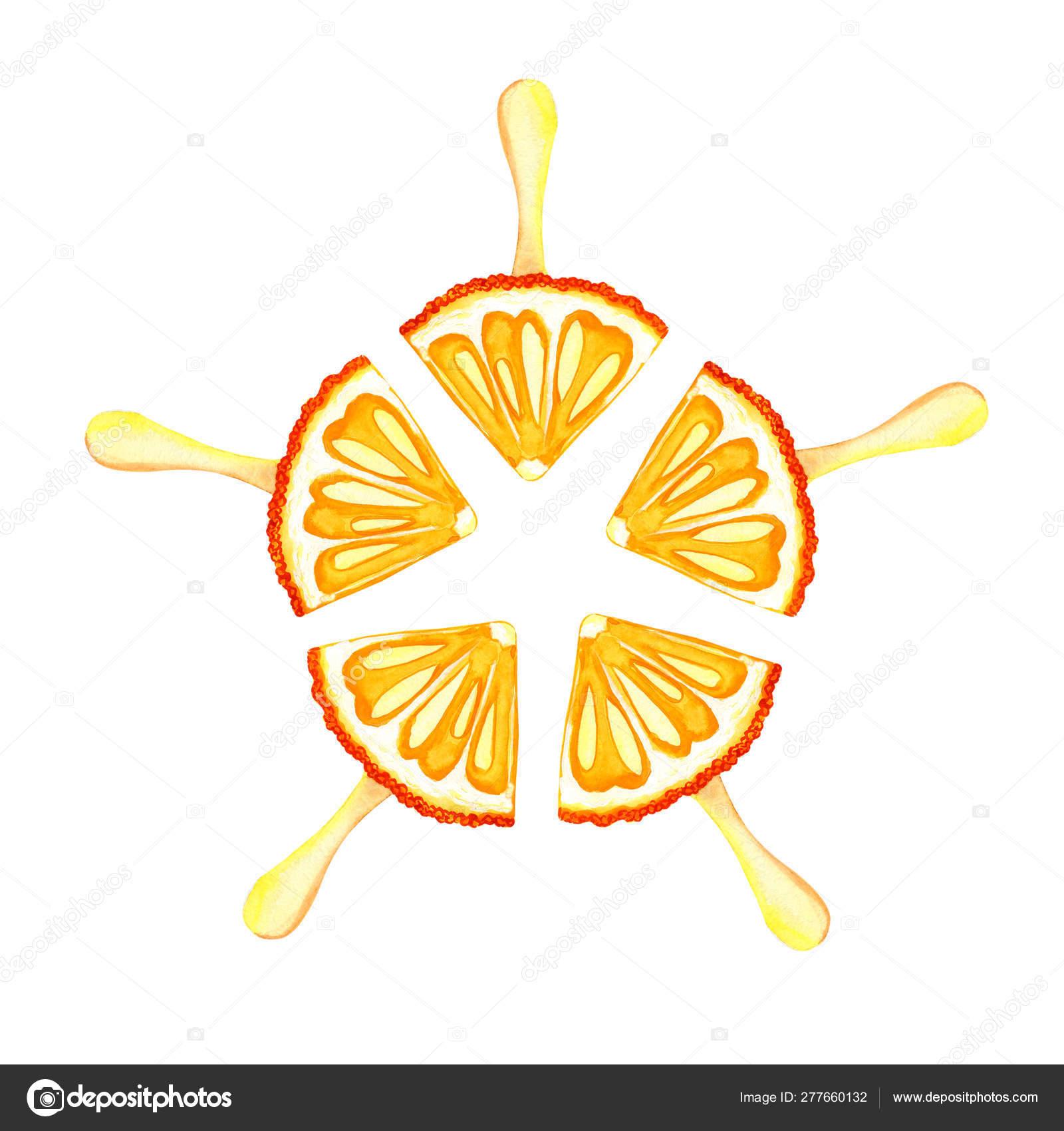 https depositphotos com 277660132 stock photo drawing orange mandarin ice cream html