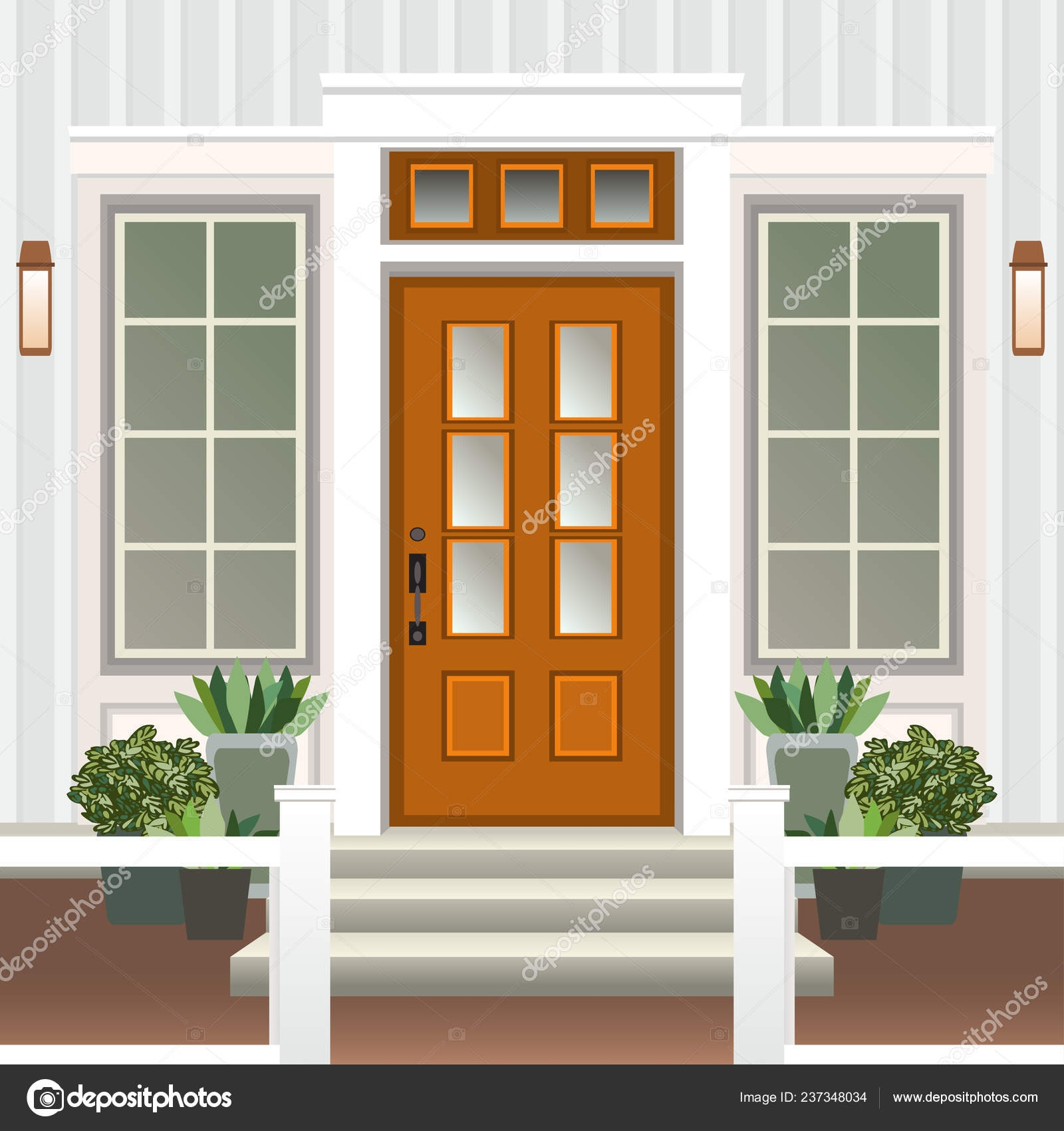 Steps Outside Front Door House Door Front Doorstep Steps Porch | Outside Steps For House | Front Door | Entryway | Decorative | Ranch Style House | Beautiful