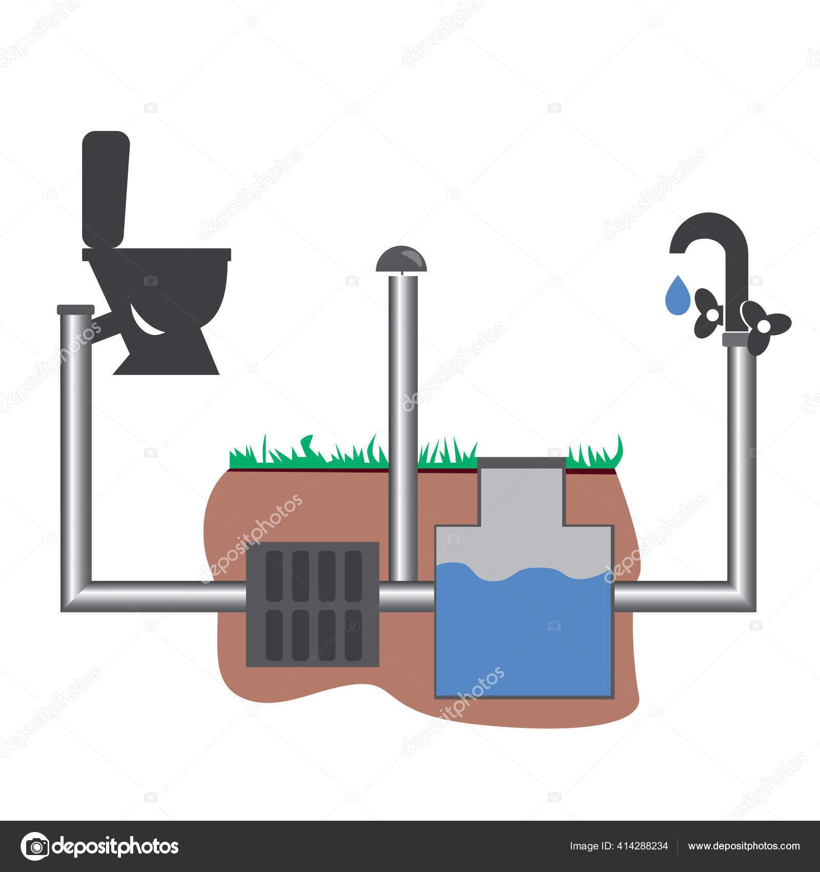 https depositphotos com 414288234 stock illustration toilet bowl sewerage filter pipeline html