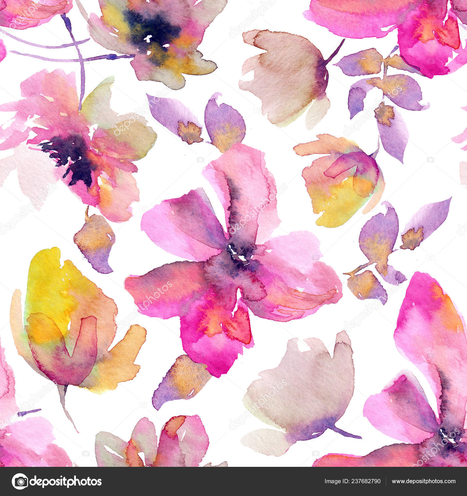 Hand Drawn Abstract Floral Wallpaper Stock Photo C Oaurea 237682790