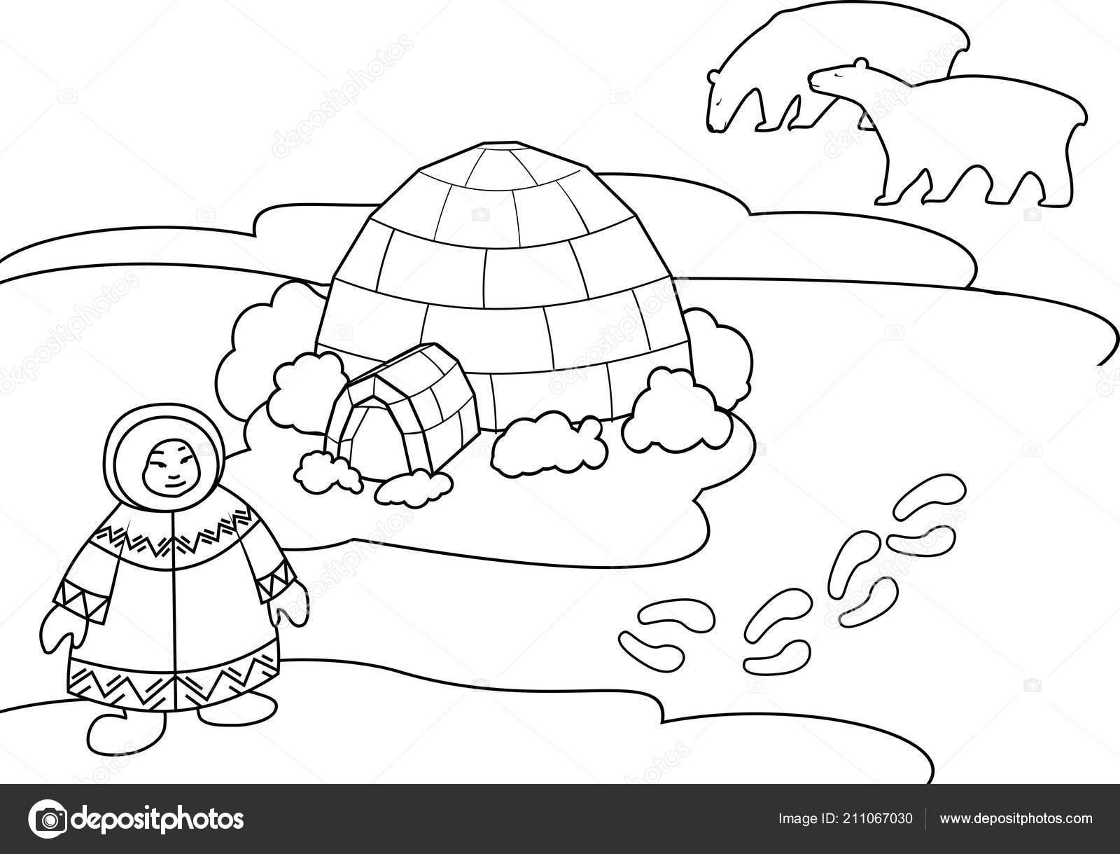 Worksheet Arctic Animals Eskimos