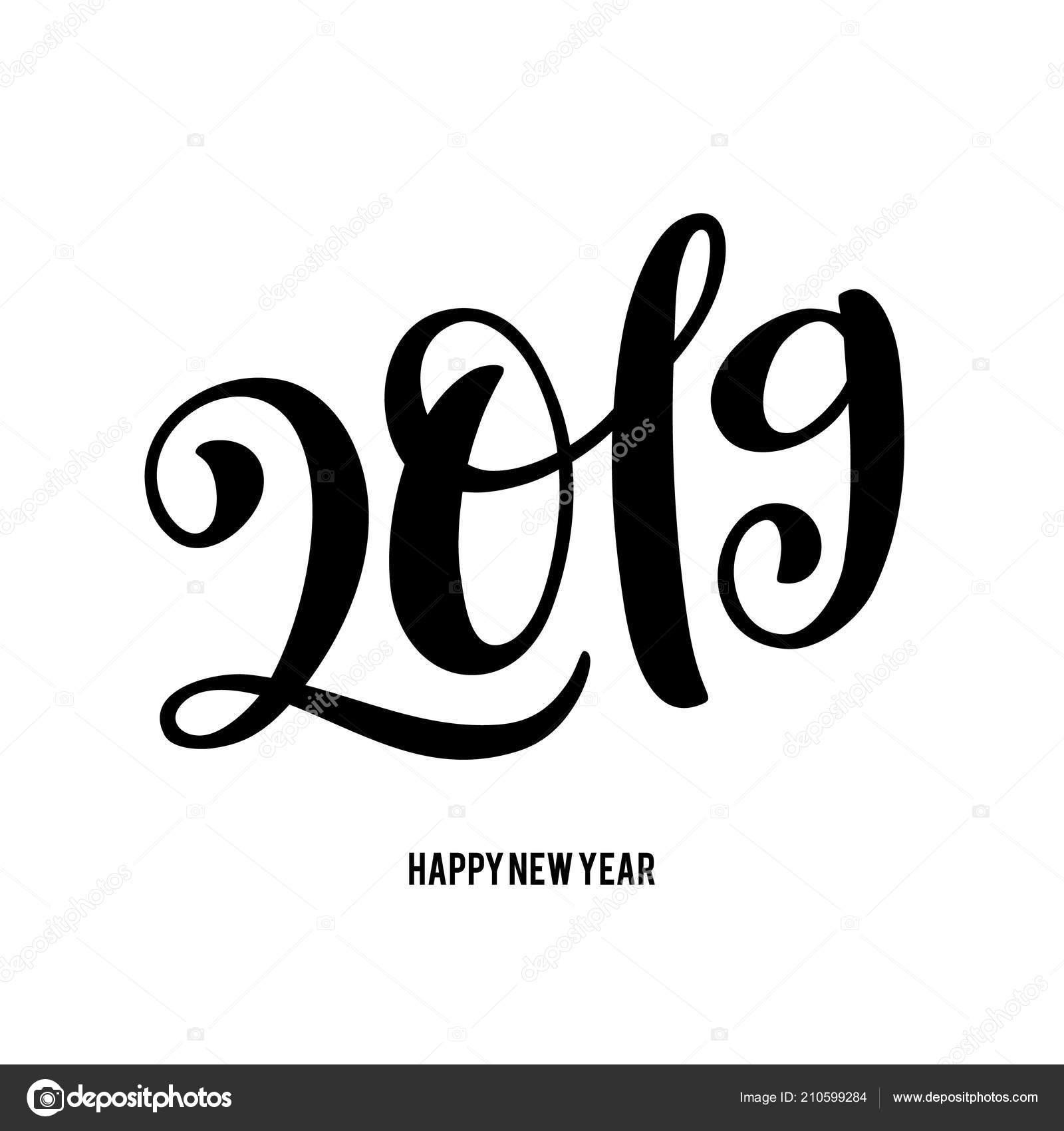 Feliz Ano Ilustracion De Vector Con La Composicion