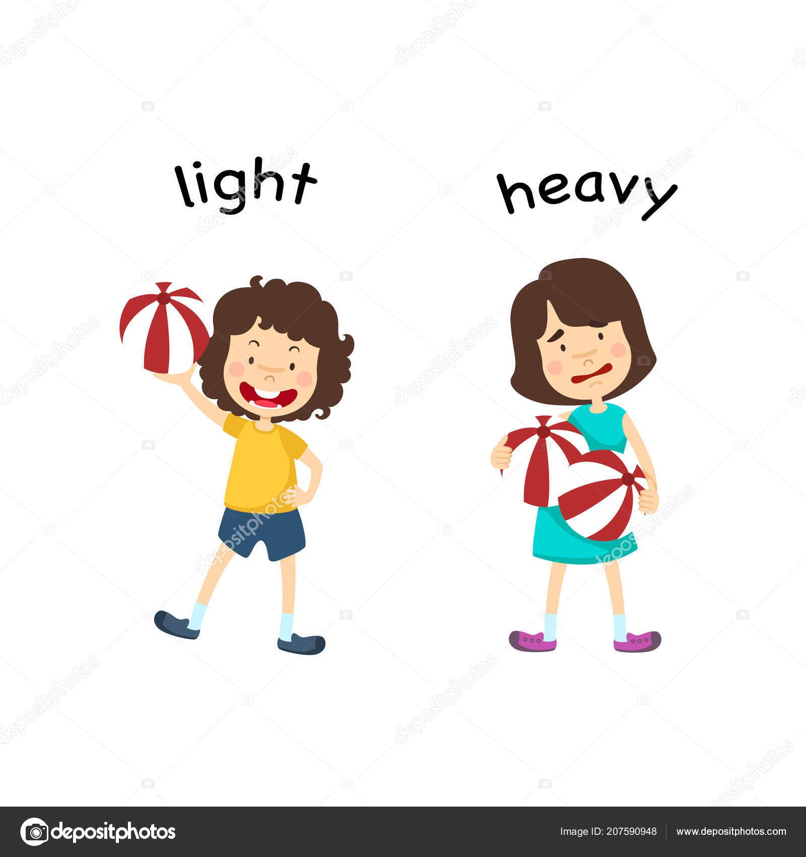 Light Heavy Vector Illustration
