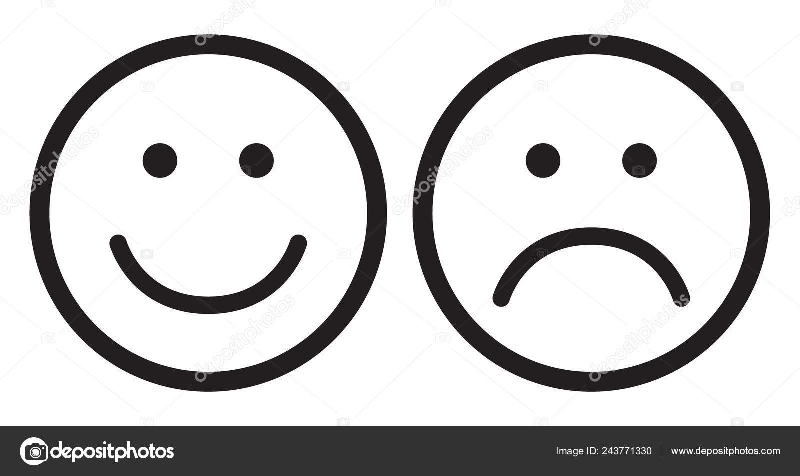 Happy And Sad Face Symbols