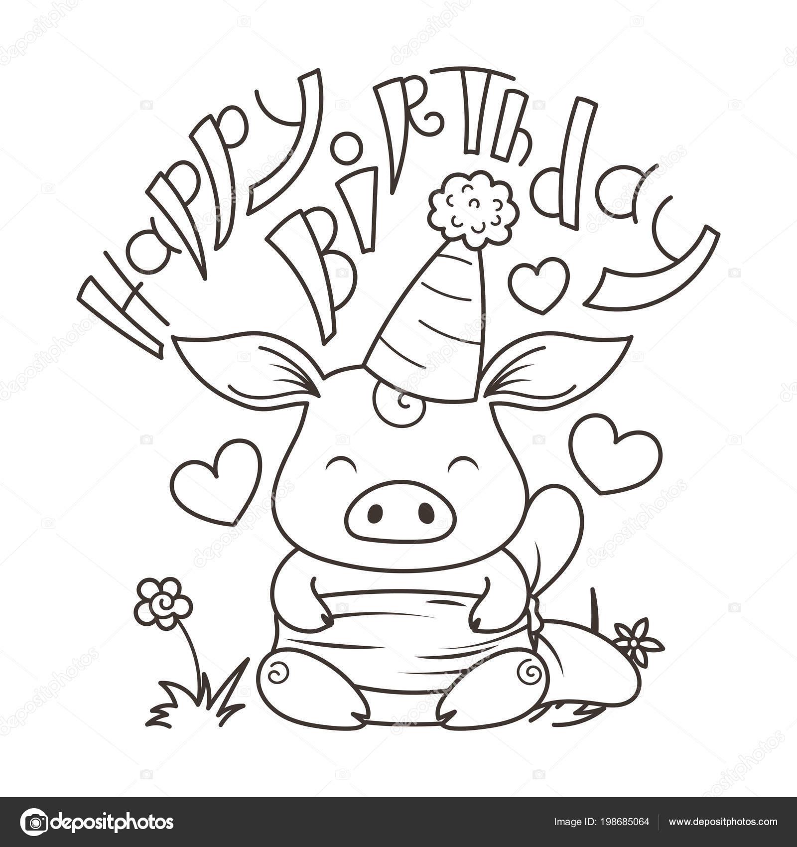 Schattige Cartoon Kat In Liefde Symbool Van