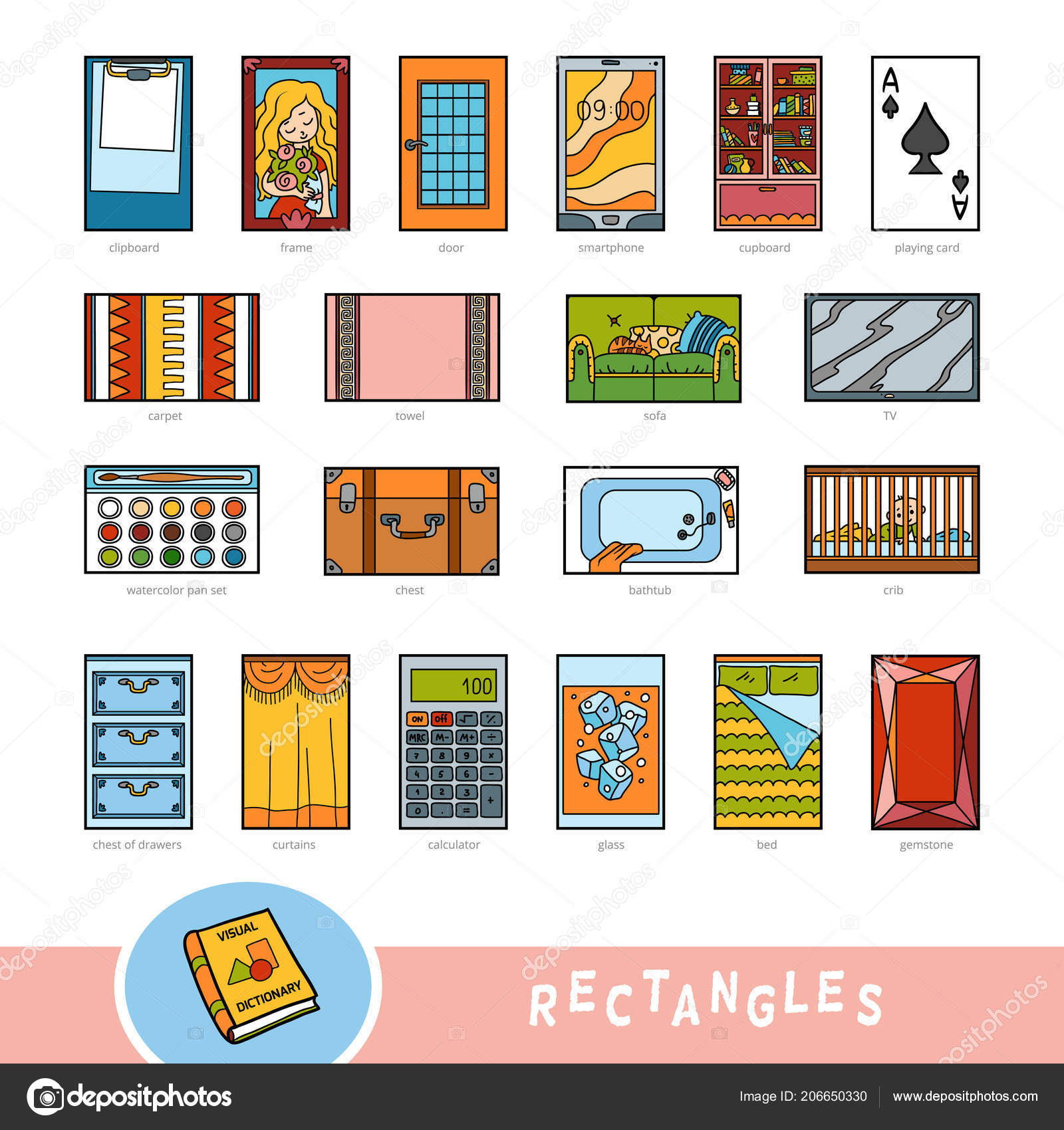 Rectangle Shape Objects