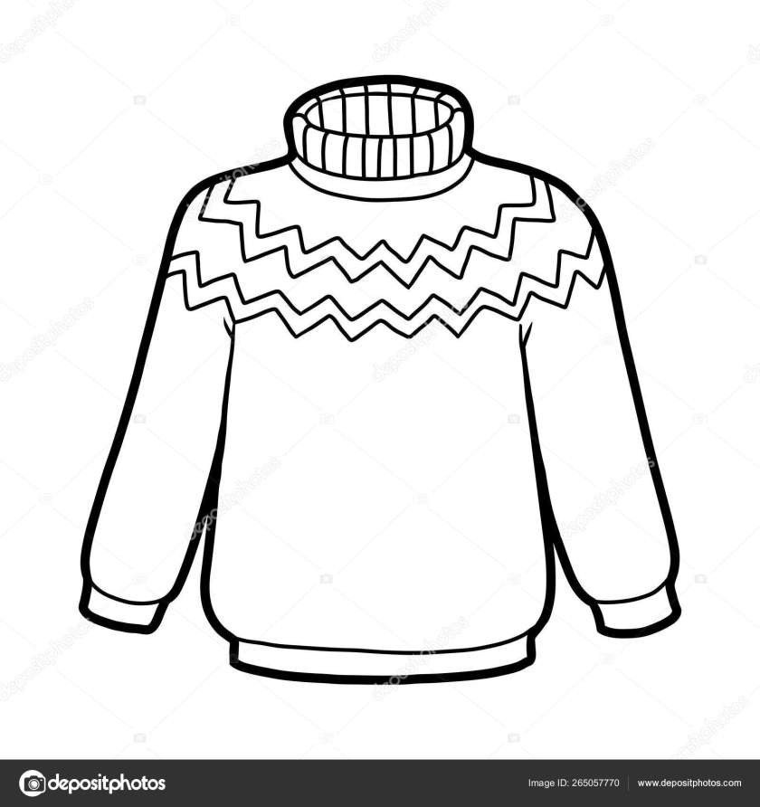 coloring book sweater — stock vector © ksenya_savva