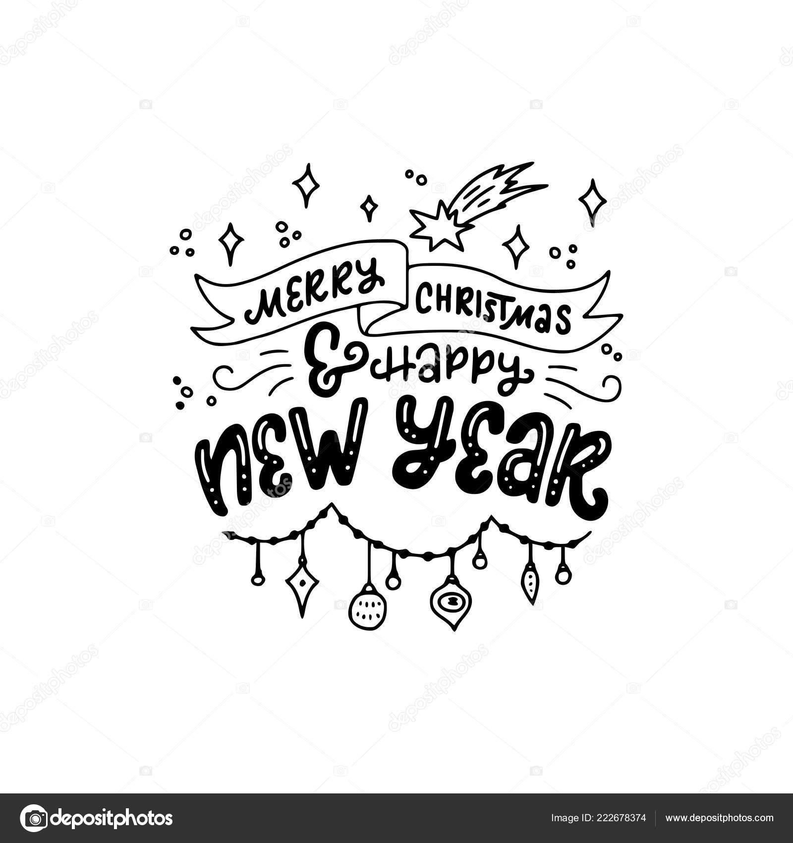 Formule Inscription Vacances Merry Christmas Happy New