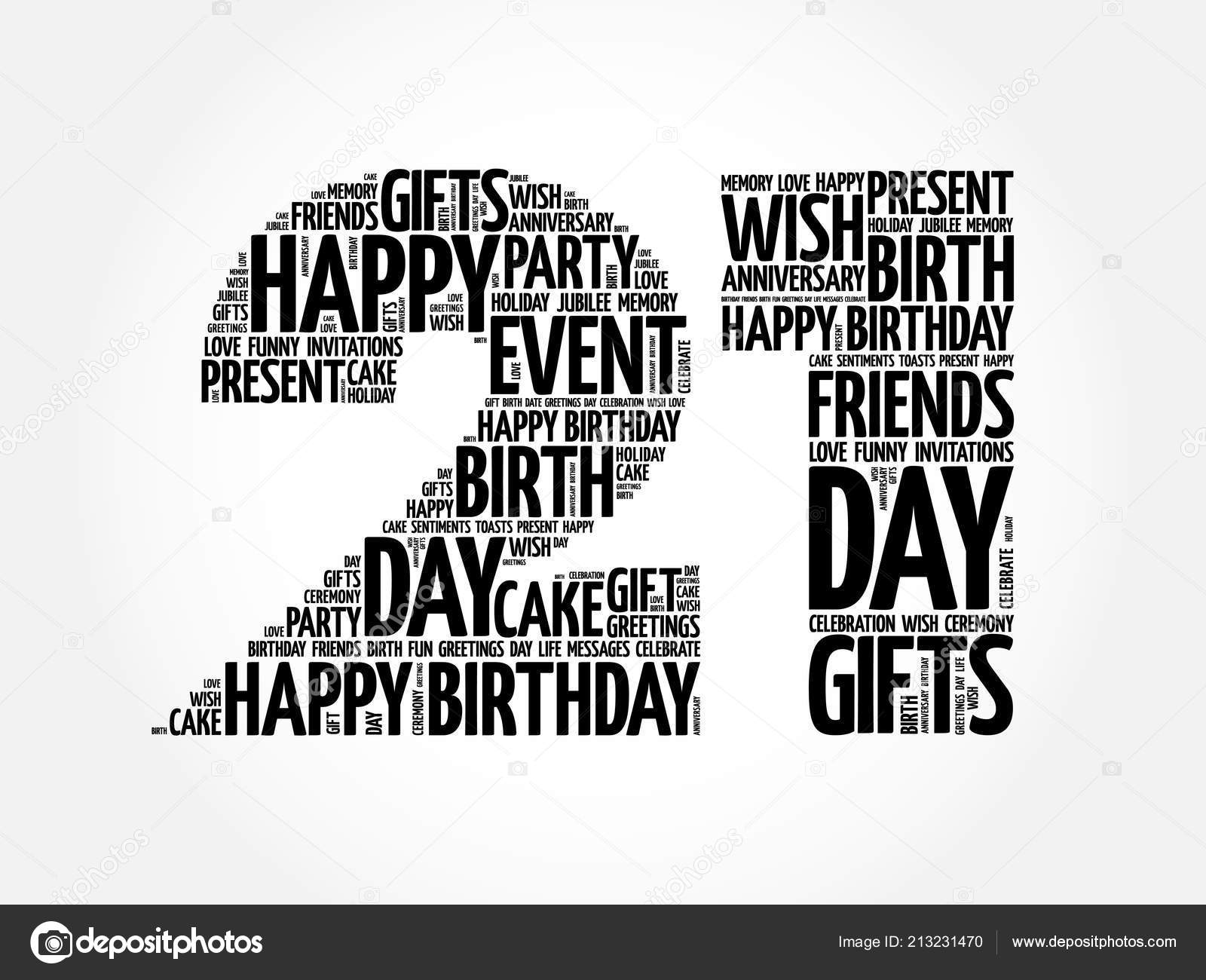 Happy 21st Birthday Word Cloud Collage Concept Vector Image By C Dizanna Vector Stock 213231470