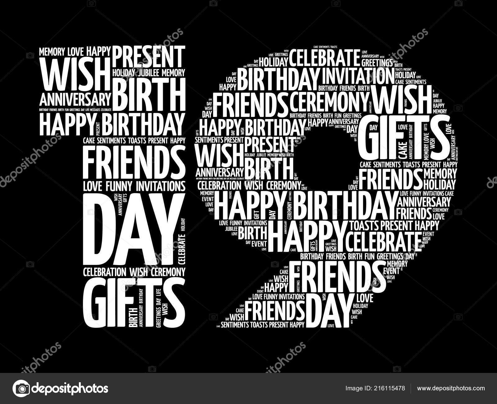 Vektorgrafiken Happy 19th Birthday Vektorbilder Happy 19th Birthday Depositphotos