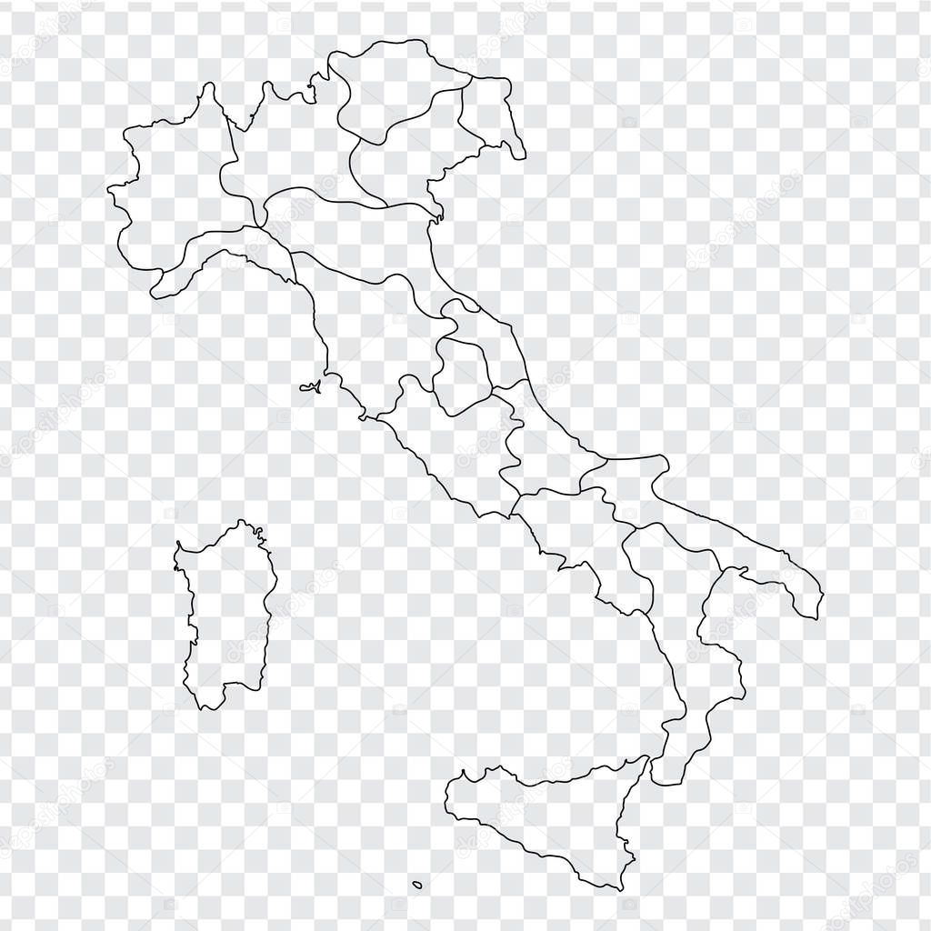 Blank Map Italy High Quality Map Italy Provinces