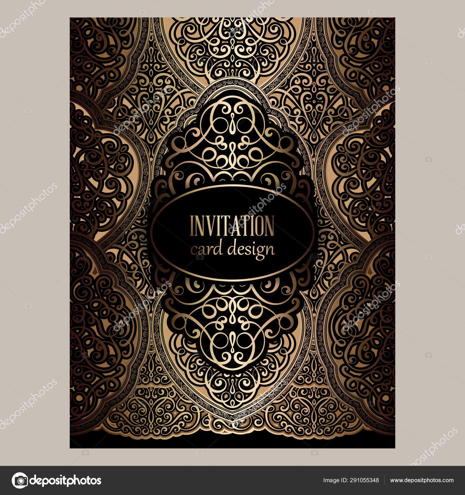 https depositphotos com 291055348 stock illustration wedding invitation card with black html