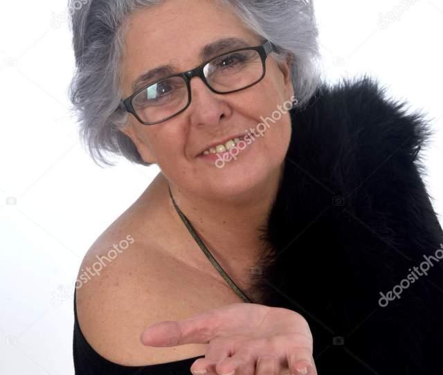 Older Woman Sexy Posed White Background Stock Photo Mariaic