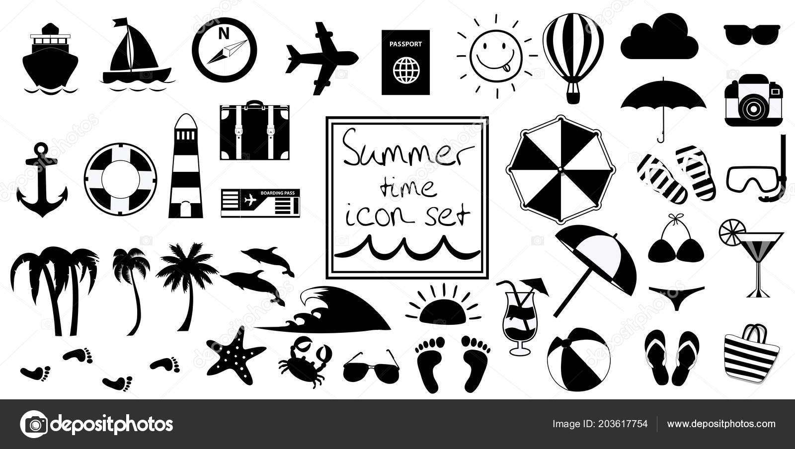 Clipart Black And White Beach