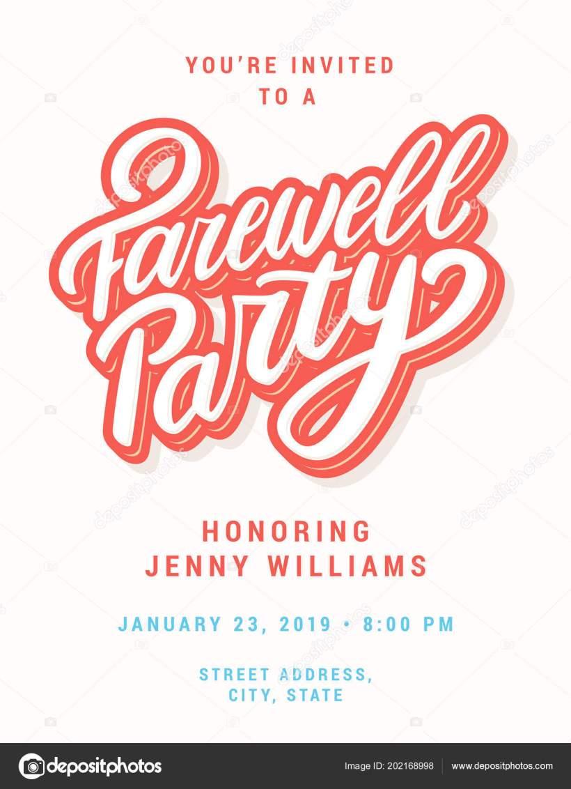 Farewell Party Invitation Vector Hand Drawn Ilration By Alexgorka