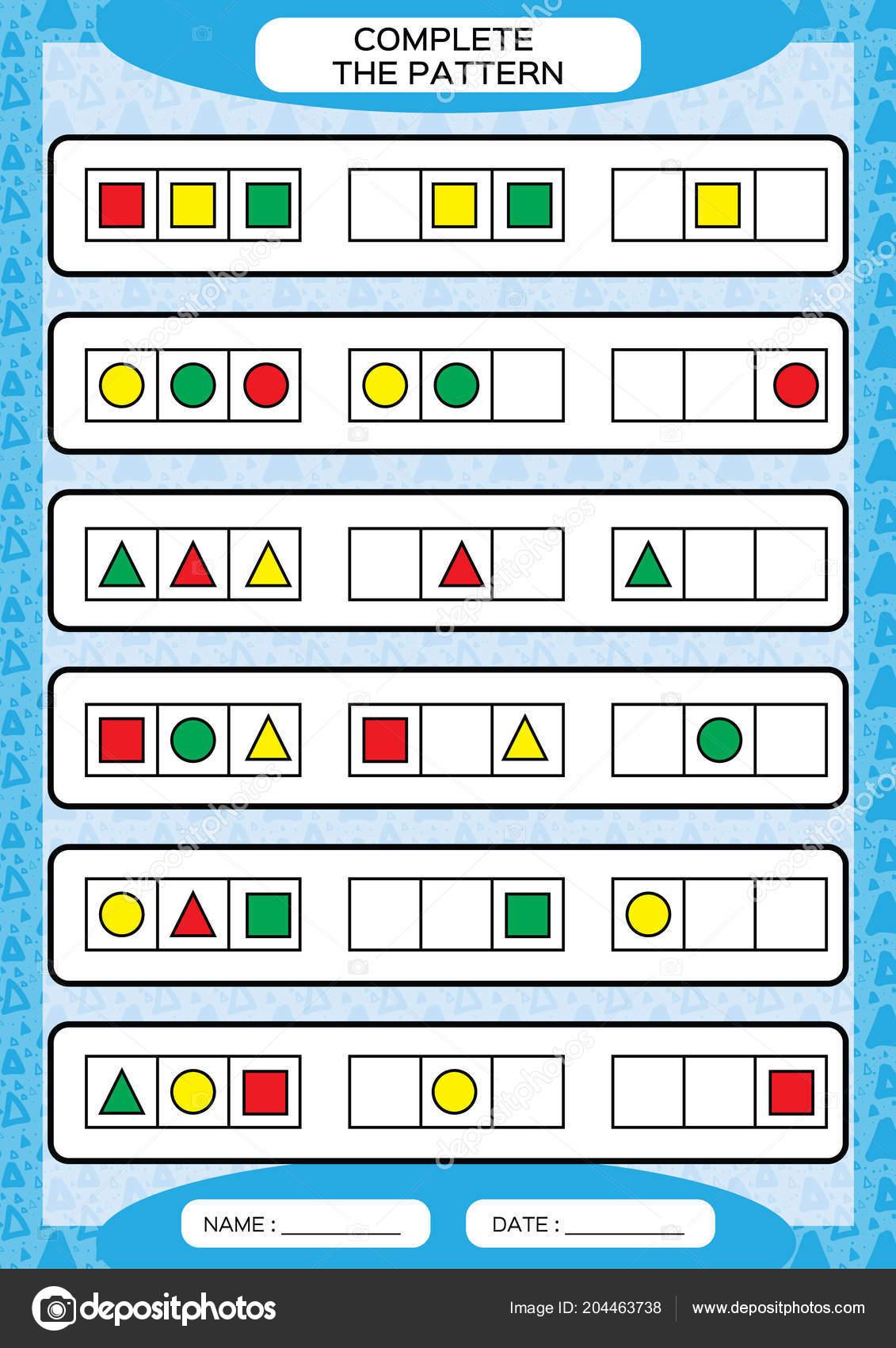 Padroes Repeticao Simples Completa Planilha Para Criancas