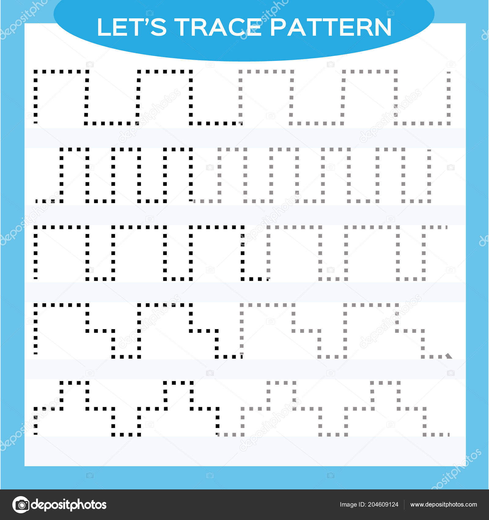 Tracing Lines Activity Early Years Special Preschool Kids