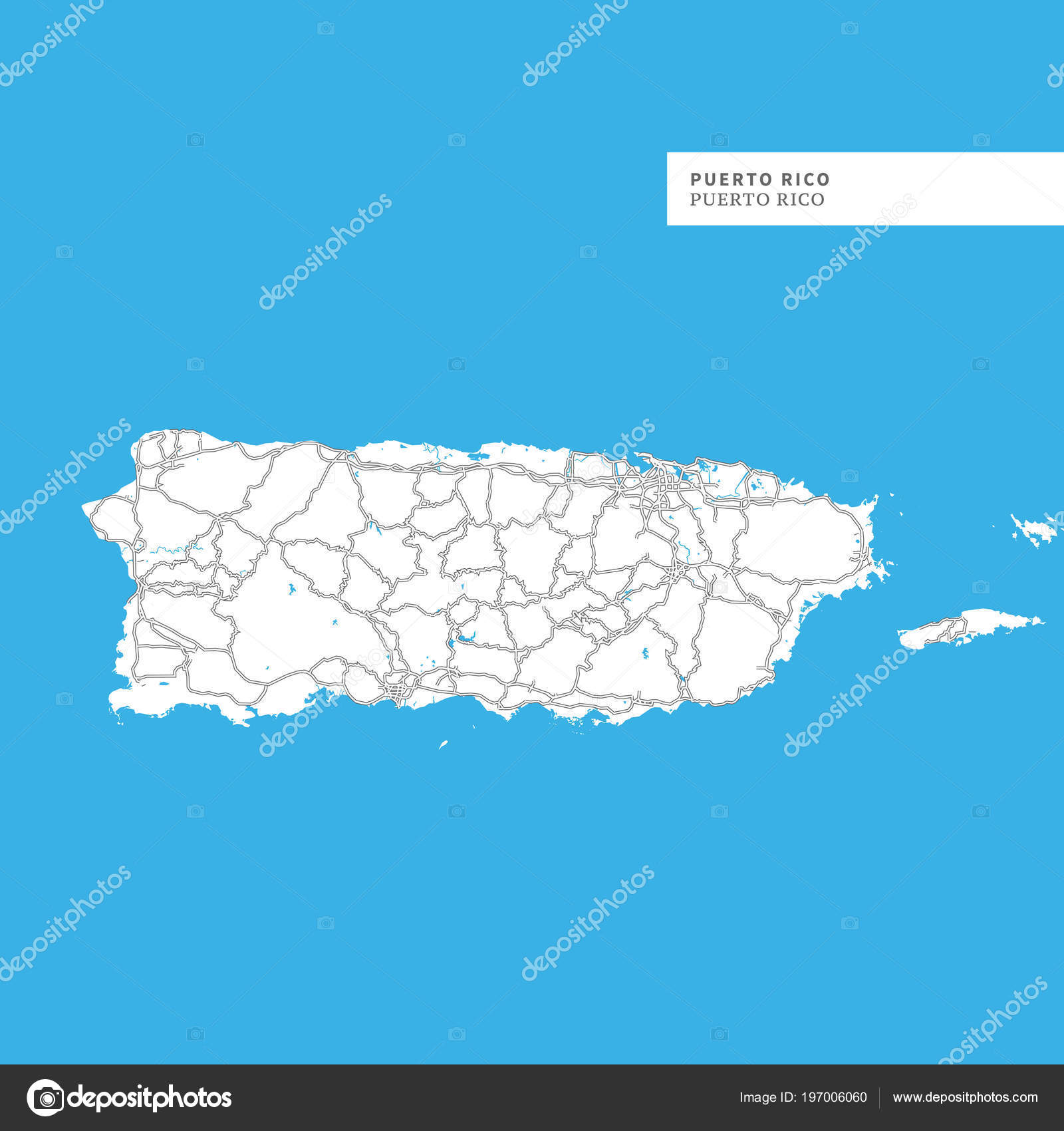 Map Puerto Rico Island Puerto Rico Contains Geography