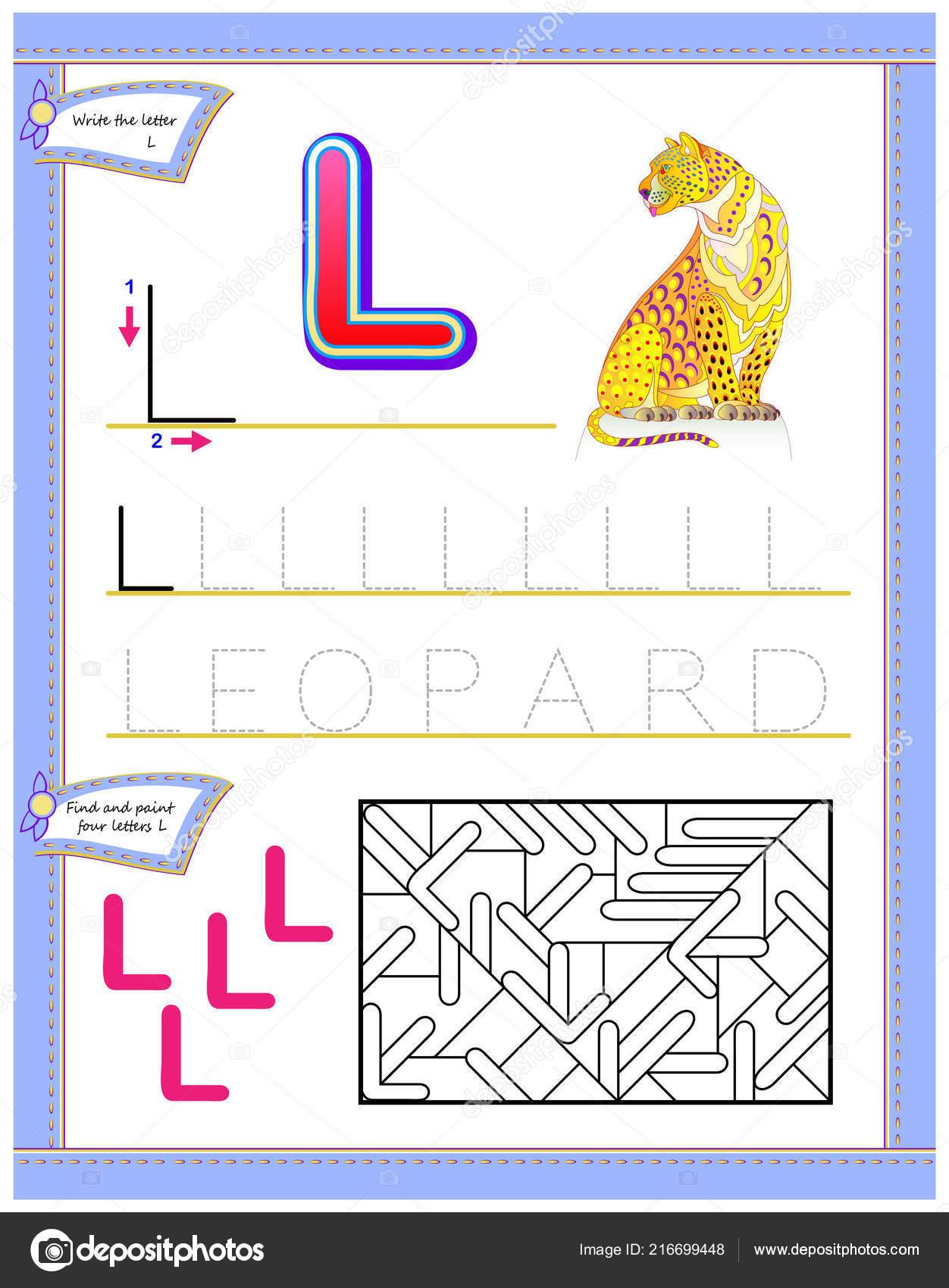Worksheet Kids Letter Study English Alphabet Logic Puzzle