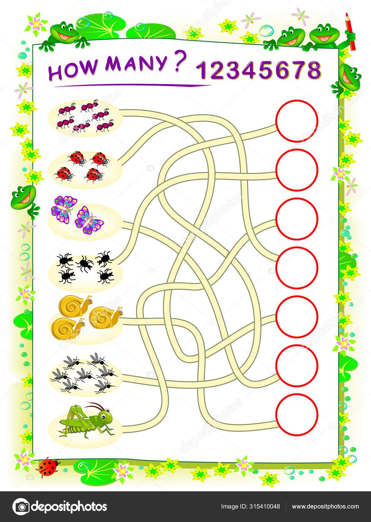 Logik Pusselspel For Barn Med Labyrint Tryckbart